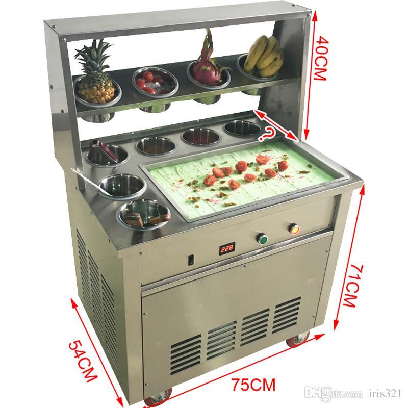 CE onaylı kızarmış dondurma makinesi / dondurma makinesi 220 V 1600 W kızarmış dondurma rulo / her türlü