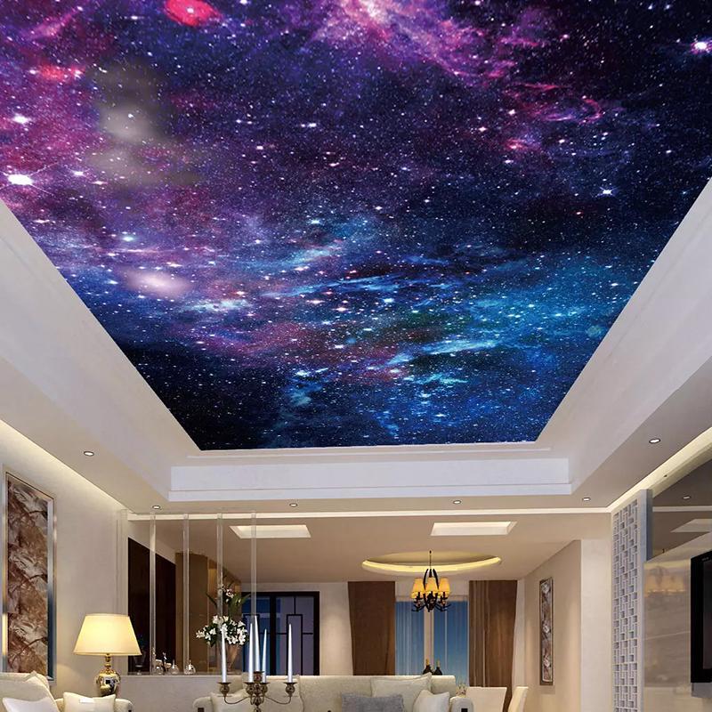 Carta da parati personalizzata Dropship soffitto Adesivi Murale 3D Bella cielo stellato Soggiorno Camera da letto Zenith decorazione del soffitto della pittura di parete di arte