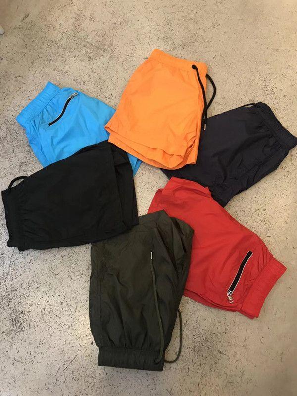Nova Marca Shorts Mens Verão Praia Shorts Calças de alta qualidade tamanho Swimwear Bermuda Masculino Carta Surf Life Homens Swimsuit Shorts: S-XXL
