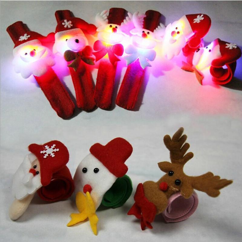 12pcs / lot Bracelet en peluche lumineux 22.5cm jouets de Noël pour les enfants cadeau de Noël T191022