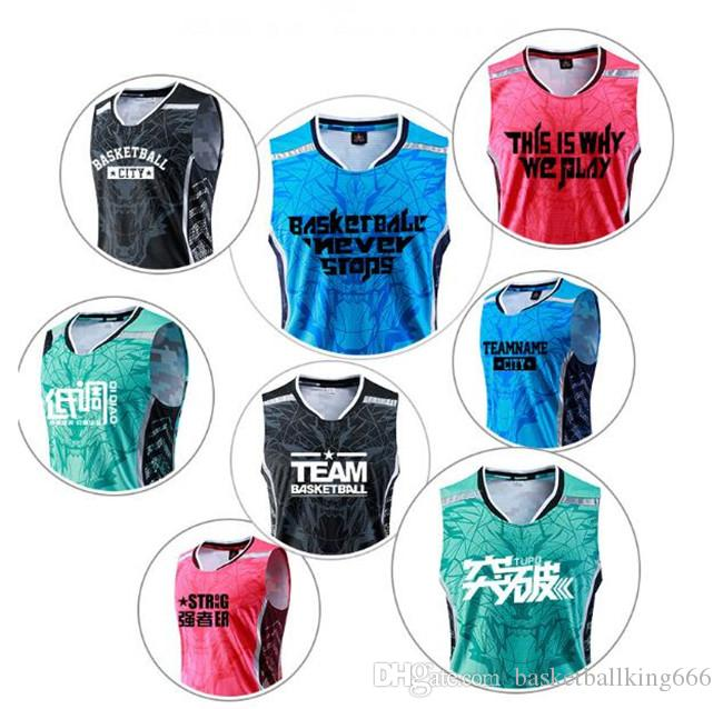 bec248c29a2 ... New basketball suit custom suit, men and women summer vest printing,  college sports training ...