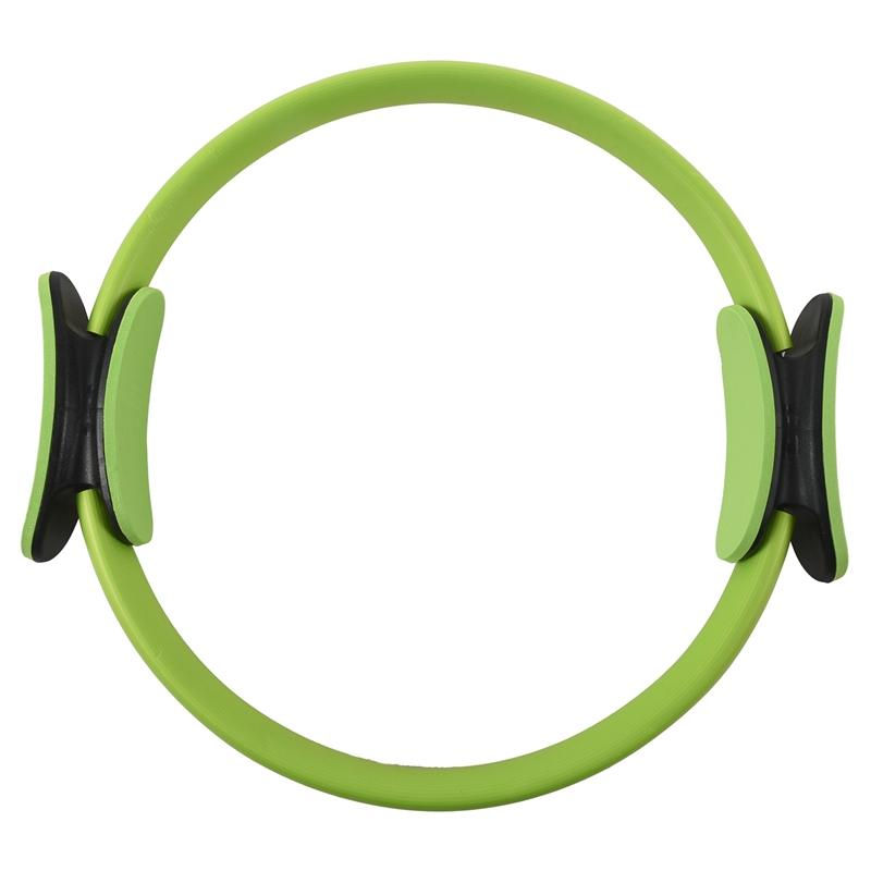 BMDT-Pilates Ring Circle Resistance Exercise Workout Fitness GYM Yoga Ring Dual Band green
