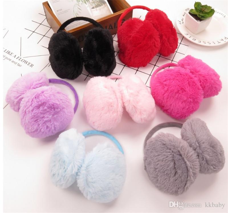 Fashion Elegant Women Ladies Colorful Plush Fluffy Warm Earmuffs Earlap Ear Winter Pure Colors Ear Muffs Headband