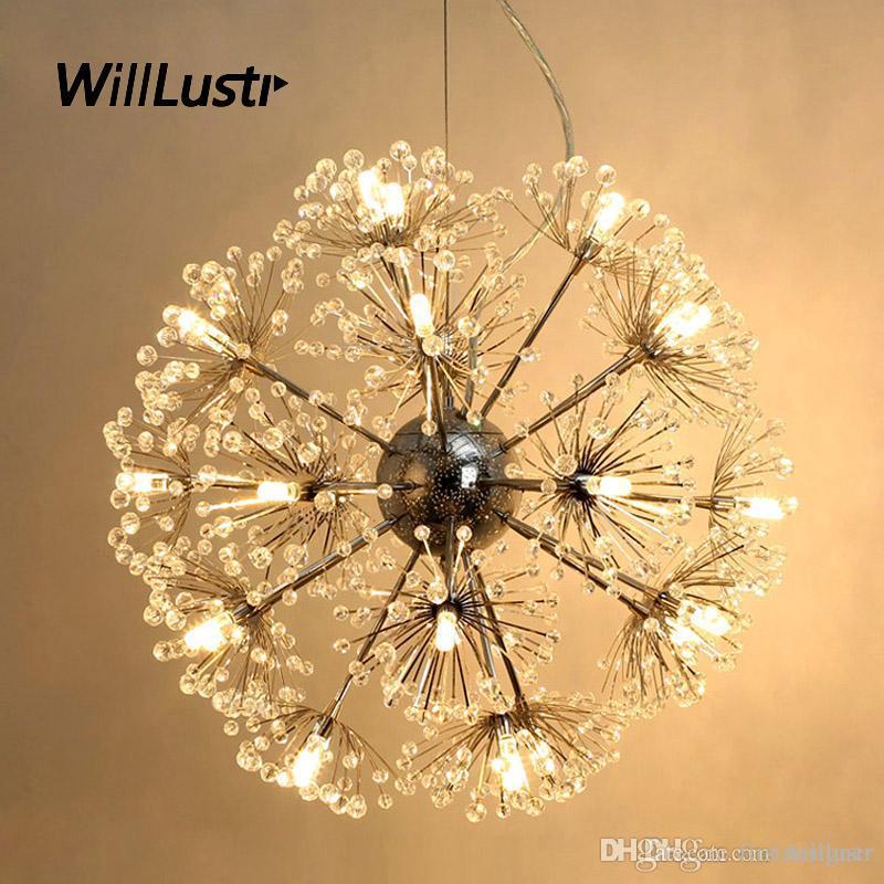 K9 كريستال LED مصباح قلادة الهندباء فاخر تعليق الضوء فندق مطعم غرفة المعيشة غرفة نوم مول زهرة معلق الإضاءة