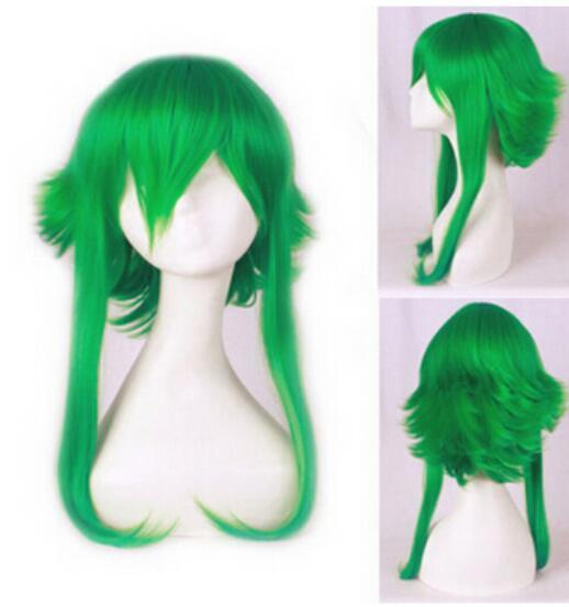 FREESHI PPING + ++ Vocaloid Gumi Grüne Seite Lange Fransen Shaggy Layered Cosplay Anime Perücke Haar
