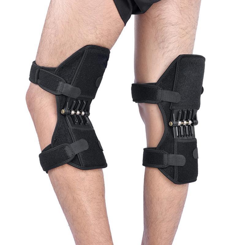 1 par Esporte Primavera do joelho Strap Montanhismo Correndo joelheira Carbono Aços Joint Proteção Kneecare Pad