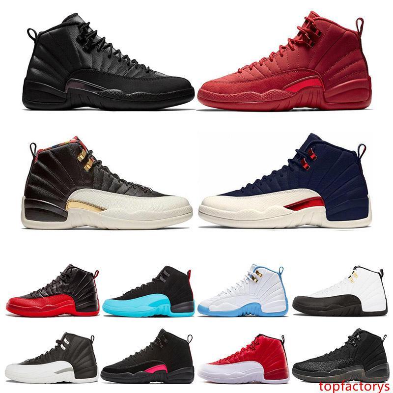 12 12s Erkek Basketbol Ayakkabı Vinterize Gym Kırmızı Koleji Donanma Wings Siyah CNY Bulls Üniversitesi Mavi Spor Sneakers