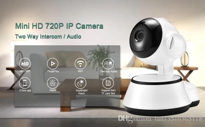 Домашняя безопасность Беспроводная мини IP-камера видеонаблюдения Wi-Fi 720P ночного видения камеры видеонаблюдения радионяня
