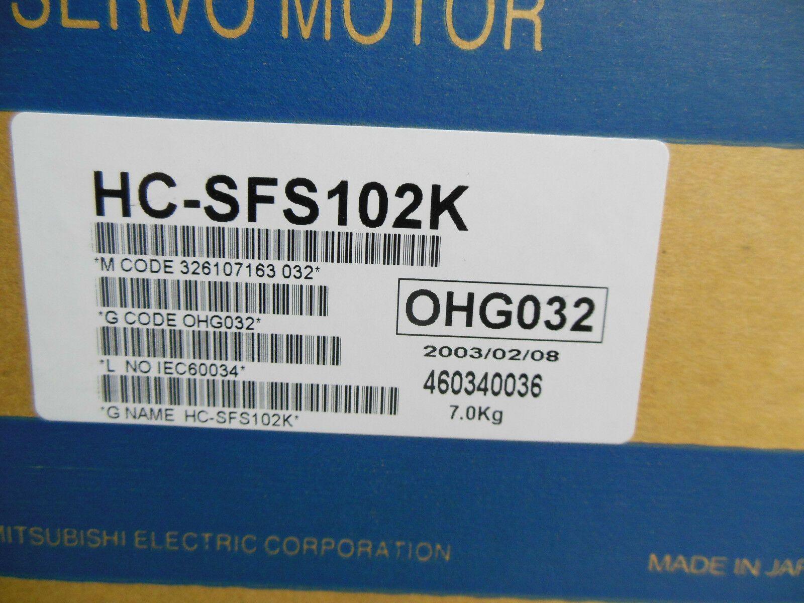 1PC MITSUBISHI servo motor 1kW 6A 123V 2000rpm HC-SFS102K Nueva