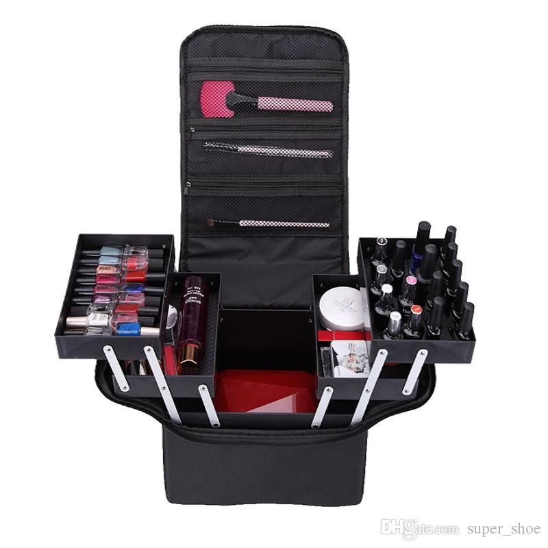 Professional make up bags hand-held large-capacity multi-layer manicure hairdressing, tattoo, embroidery, tool box, storage bag #215884