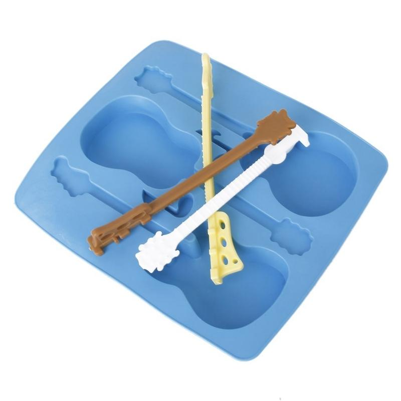 En molde del silicón del hielo de la bandeja-forma de guitarra. Herramientas Helado