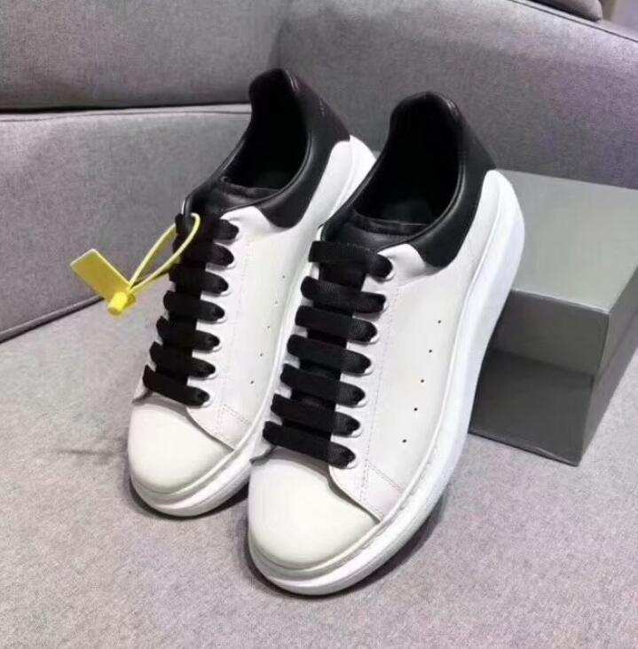 sapatos de alta qualidade couro genuíno Sneaker Mens Mulheres Moda couro branco Plataforma Flat Shoes Casual Shoes