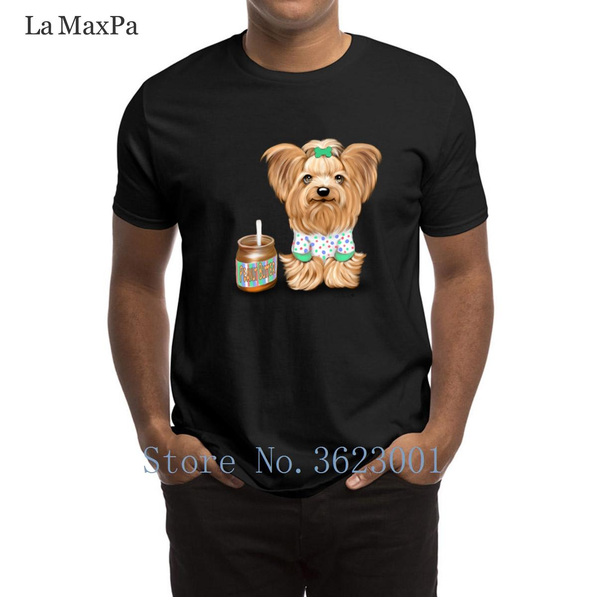 Designs Letter T Shirt Yorkie Peanut Butter amante Catiacho T-shirt do slogan cor sólida T-shirt Popular O-Neck camiseta Hip Hop