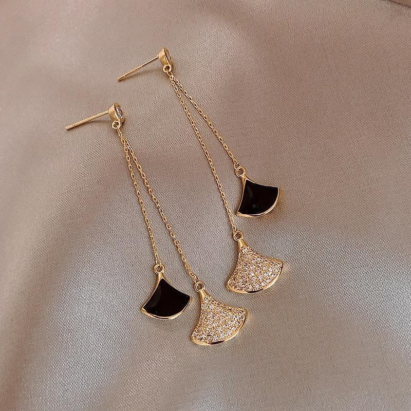 vBKj9 925 серебряной игла микро-инкрустированного полные алмазы веерообразной кисточки женщины Корейского стиль высокого класс серьга Yujie Socialite свет алмазной earr