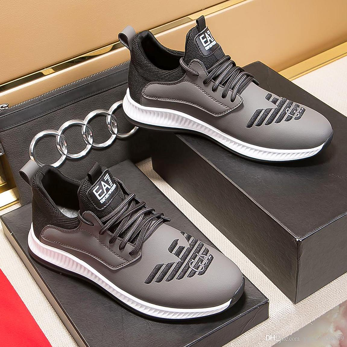 New highquality top classic mens casual shoes, trend shoes low-cut leather men's shoes, casual shoes mens design Loafers qo