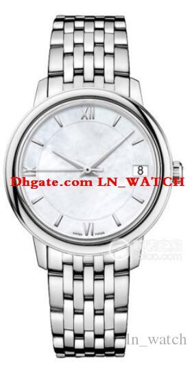 Luxury 32.7mm Fashion Lady Elegant Watch 424.10.33.20.05.001 White Conch Dial Automatic Womens Watches Stainless Steel Bracelet
