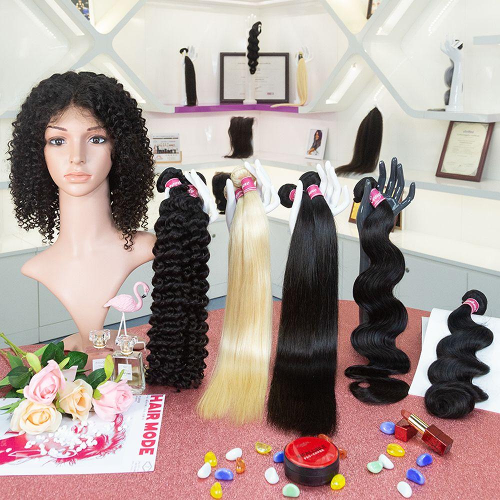 Jungfrau-Menschenhaar Can Dye all Farbe Bundles Virgin Menschenhaar-Verlängerung Menschenhaar-Bundles Deal Innerhalb Drop Shipping Verkaufs