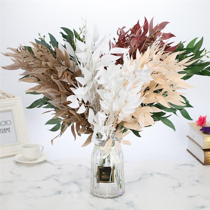 인공 버드 나무 꽃다발 실크 가짜 잎 녹색 가짜 단풍 홈 결혼식 장식 식물 정글 파티 배열