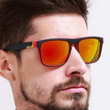Nouvelle mode Europe et États-Unis Sunglasses Polarized Square Square Sports Casual Sunglasses Unisexe Lunettes de soleil en plein air