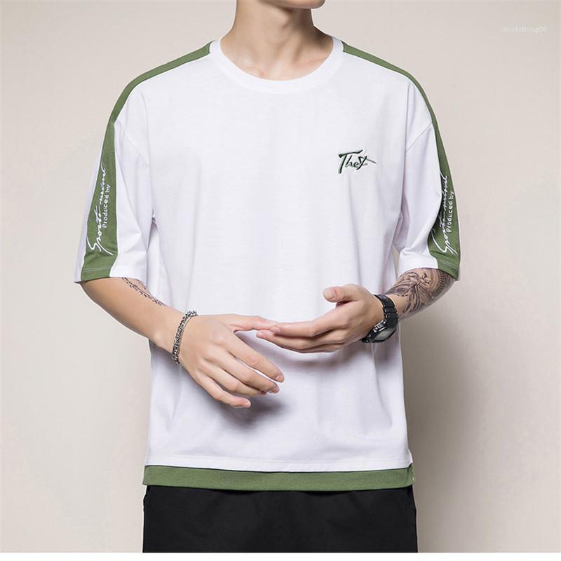 Tops Herren Designer-T-Shirts Stickerei Panelled Tees Short Sleeve Letter Print Kleidung der Männer beiläufige Art und Weise