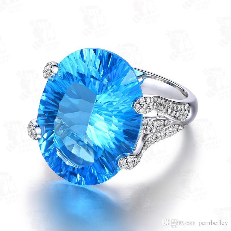 R329 novos produtos europeus e americanos de moda comércio exterior violência estilo jóias coloridas banhado anel de platina