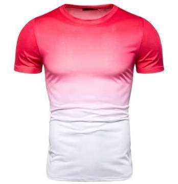 Elastic O del collo uomini della maglietta fitness solido casuale maglietta moda maschile manica corta maglietta Abbigliamento Tee Tops