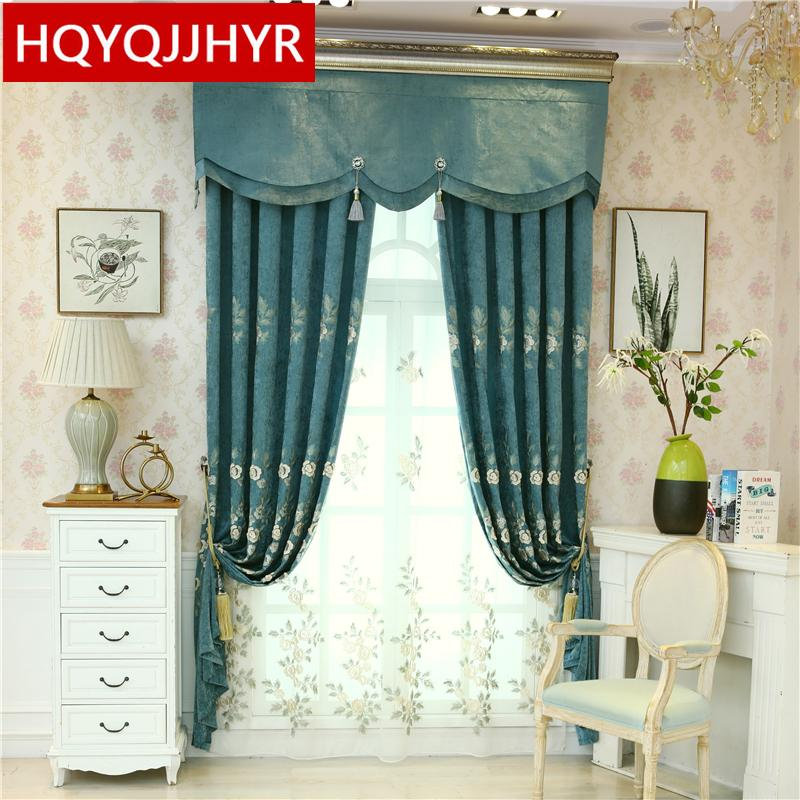 2019 Luxury Pastoral Quality Villa Embroidered Living Room Curtain Hotel  Decorative Curtains For Bedroom Windows High Shading70% 90% From Hobarte,  ...