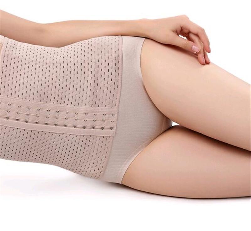 New Nahtlose Frauen mit hohen Taille Abnehmen Bauch Bauch-Steuerschlüpfer postnatalen Body Shaper Korsett Briefs Shapewear Bodysuit # OU852