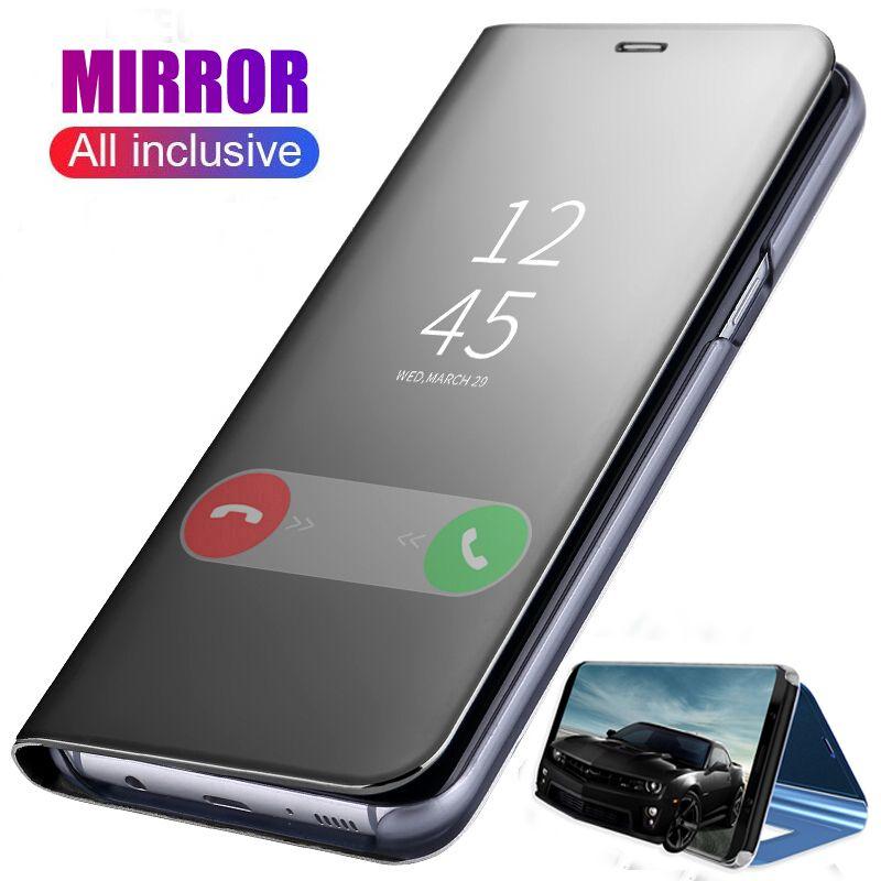 Smart Mirror Phone Case For Samsung Galaxy Note 20 Ultra 10 S20 S10 Plus A71 A51 A41 A31 A21 A21s A11 A01 A30s A20s A10s Original Flip Cover