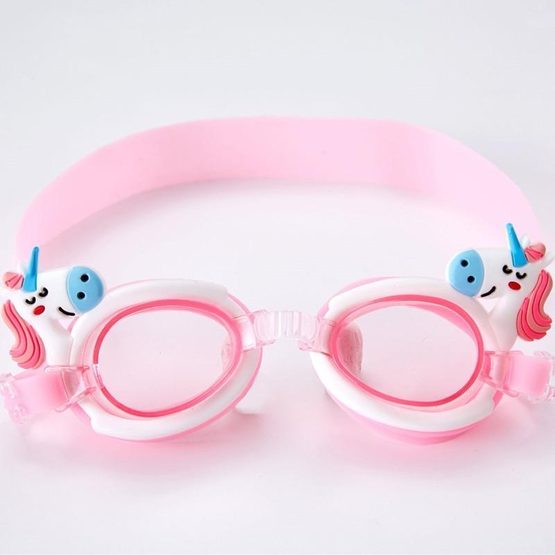 Gafas de natación para los niños de dibujos animados lindo de buceo Gafas de natación contra la niebla infantil Surf Gafas Niño Niña reducir el deslumbramiento Gafas Gafas