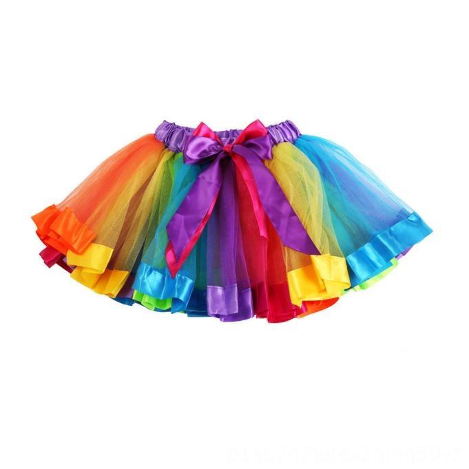 TELOTUNY 2020 Пачки Для ребёнки SevenColor Радуги юбки сетки Юбки Детей Принцесса Тута сетки малыши Танец Юбка 28Y
