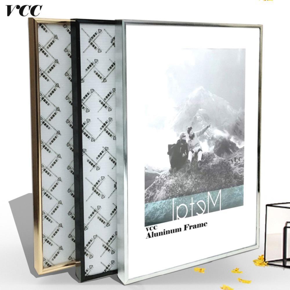 Picture Frame Wall Art, clássico Reforçar Alumínio A4 A3 moldura de cartaz para a tapeçaria, Metal Photo Frame quadro de parede, Certidão, T191231