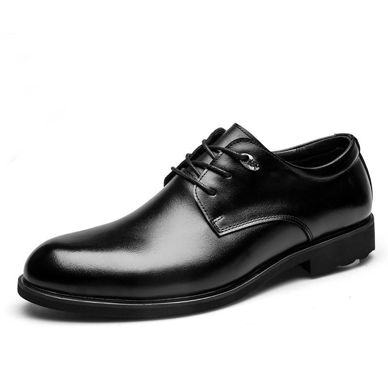 Lace-up scarpe da uomo mucca appartamenti del cuoio di scarpe di business scarpe di cuoio genuino uomo scarpe da sposa formale 724