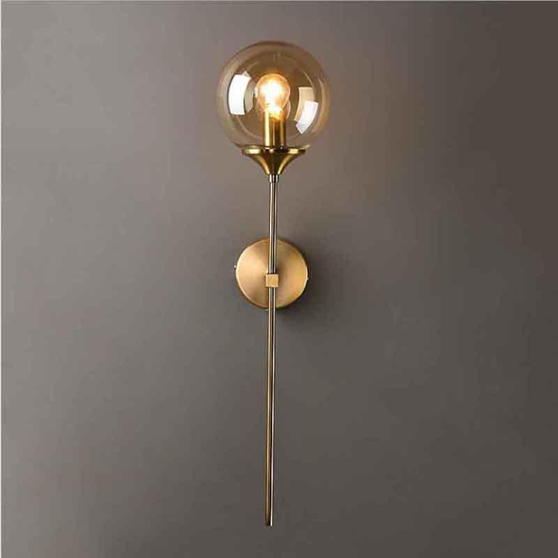 현대 LED 벽 빛 비품 골드 유리 벽 램프 거실 침실 침대 옆 램프 E14 자료 욕실 거울 조명