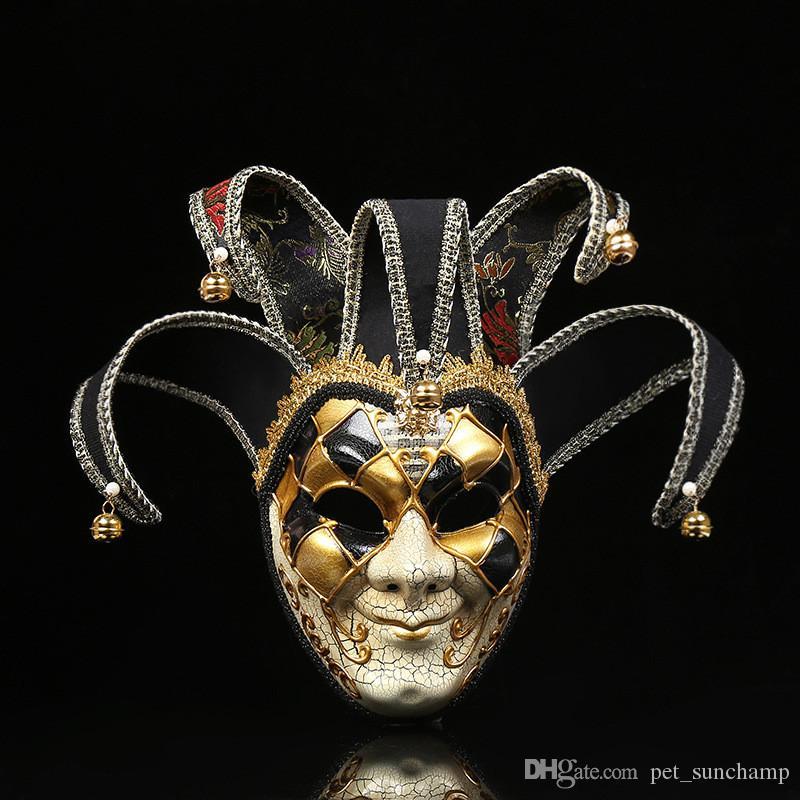 Máscaras Máscaras INS Moda payaso Festival Hombres Modelo de moda Impreso Máscara de Halloween decoración de la personalidad adolescentes masculinos del partido Charm