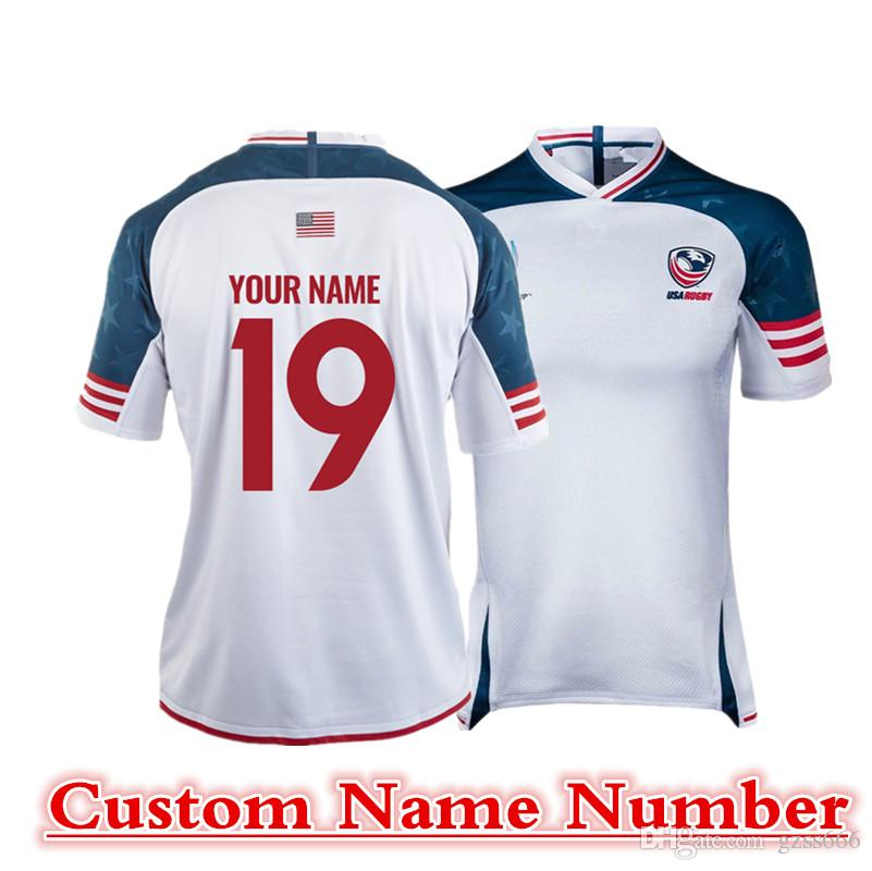 2019 USA RWC RUGBY JERSEY HOME JERSEY size S-5XL Print custom name number Top quality free shipping