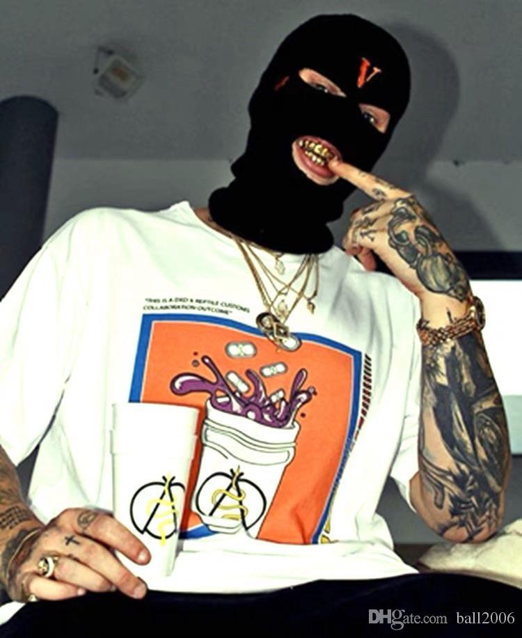 2019 새로운 힙합 V의 POP STORE 게릴라 숍 제한 산적은 울 캡 콜드 모자 듀얼 목적 산적 마스크를 착용하는 헤드