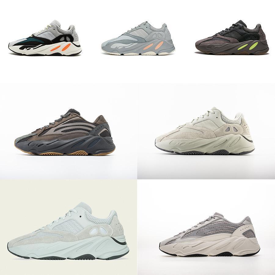 2019 nouveau 700 Wave Runner Chaussures Hommes Inertie Mauve Kanye West Designer hommes Chaussures femmes 700 V2 sport statique Seankers taille 36-45 # 0925d7 #