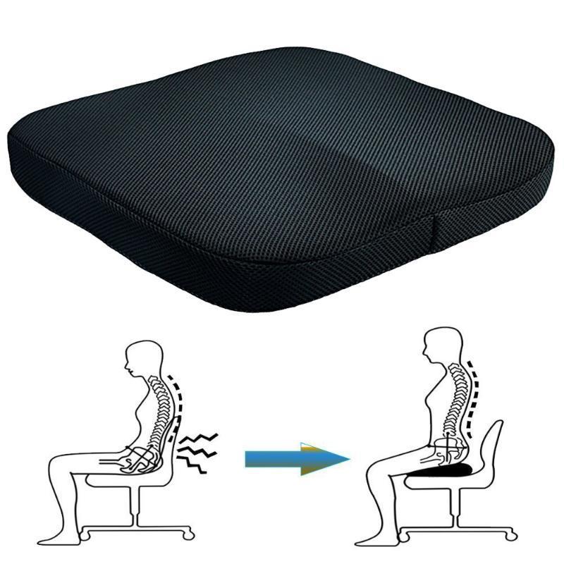 Sandalye koltuk ped kabartma ofis taşınabilir yumuşak tekerlekli sandalye araba köpük yastık ağrısı geri basınç bellek ortopedik ev uqijo