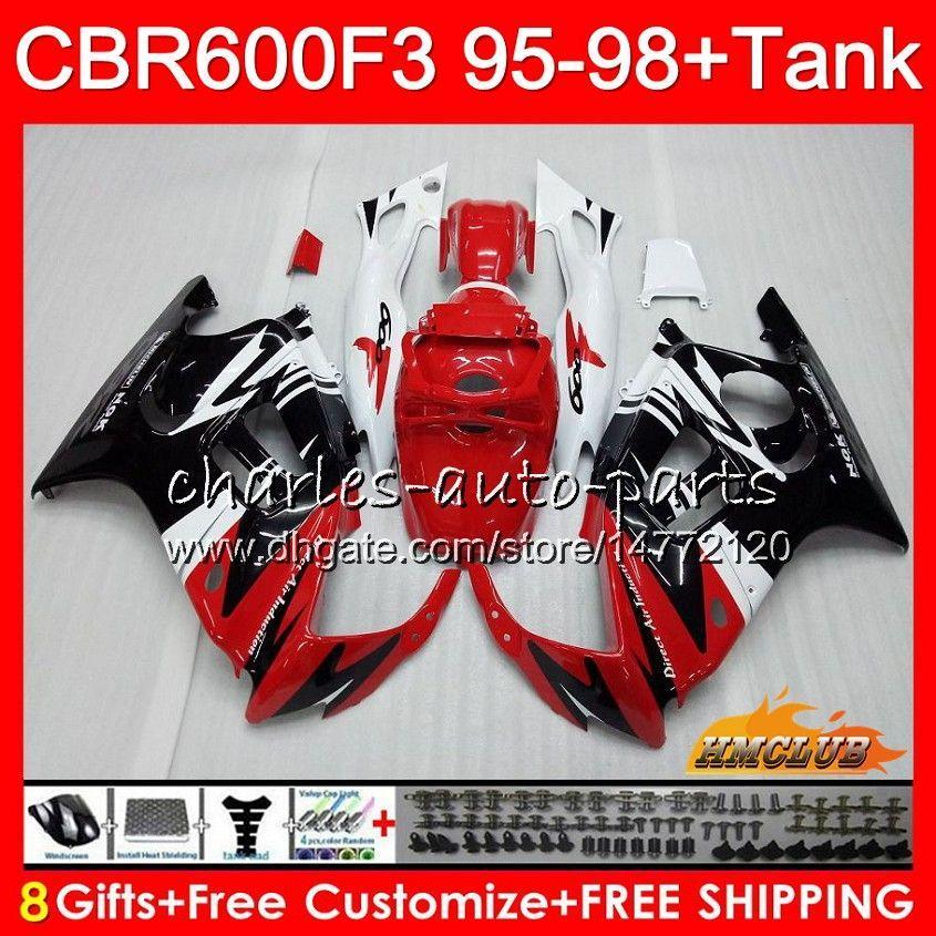 Corpo + tanque para Honda CBR 600F3 600CC CBR600 F3 95 96 97 98 vermelho preto 41HC.151 CBR 600 FS F3 CBR600FS CBR600F3 1995 1996 1997 1998 carenagem