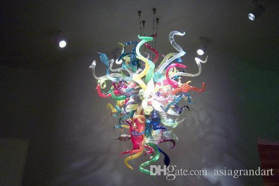 100 % 입 풍선 CE UL 붕규산 무라노 유리 데일 치 훌리 (Dale Chihuly) 미술 장식 펜던트 현대 산업 스타일 조명
