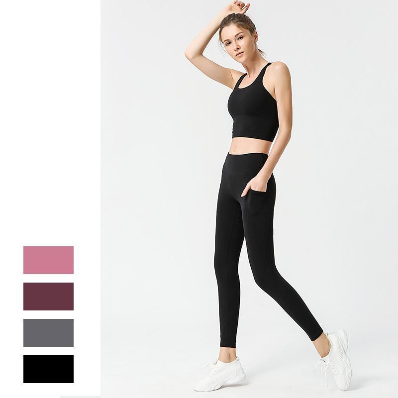 Sexy Yoga Set Mulheres cintura alta energia sem emenda Top Leggings aptidão terno à prova de choque respirável Ginásio Atlético Sportswear