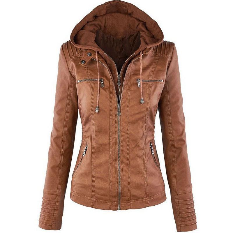 Las mujeres chaquetas casuales 2020 Nueva manera de la llegada sólido del color del diseñador abrigos para mujer delgada de Hip Hop Streerwear ocasional de las mujeres de la motocicleta Clothi