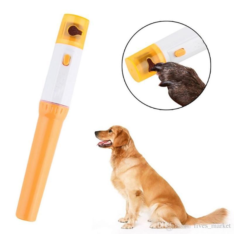 Pet Cortador de Unhas Pedi Pet Cães Gatos Pata Prego Aparador de Corte Elétrico de Moagem Ferramentas de Higiene Suprimentos Limpeza AN1955