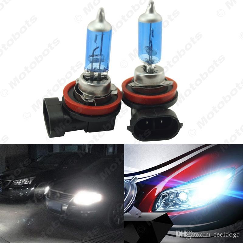 10x Branco H11 55W / 100W Car Faróis Nevoeiro lâmpada de halogéneo Faróis Lamp Car Light Source Estacionamento # 2241