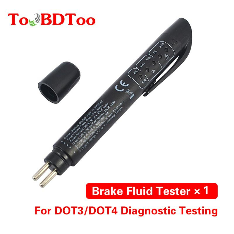 فاحص OBD2 دقيق جودة زيت تحقق القلم 5 LED الفرامل الموائع الفاحص السيارات الفرامل السائل الرقمية للسيارات السيارات أداة اختبار السيارات