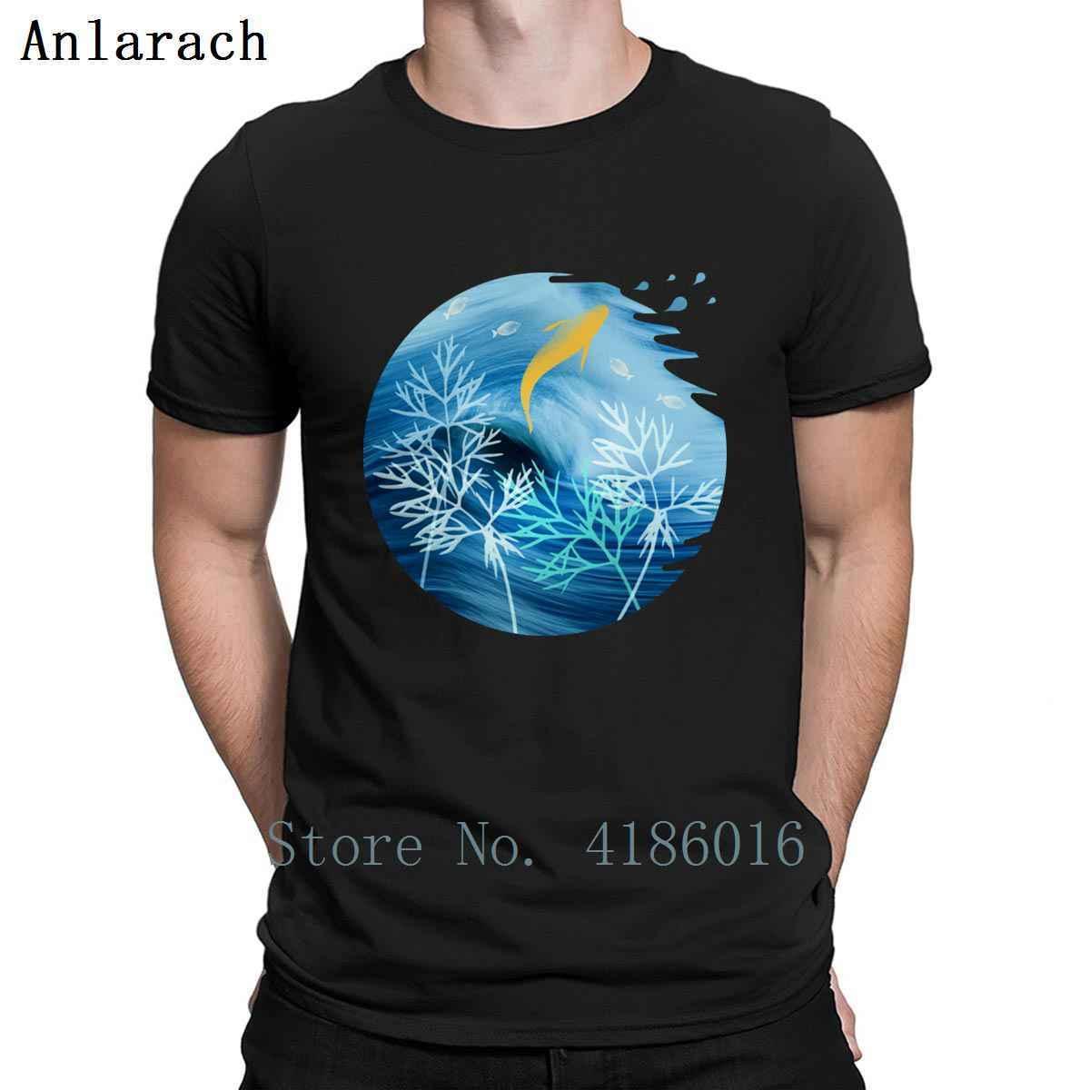 Mer planète avec les poissons t-shirt cool de mode S-5XL personnalisé coton printemps normal graphique shirt