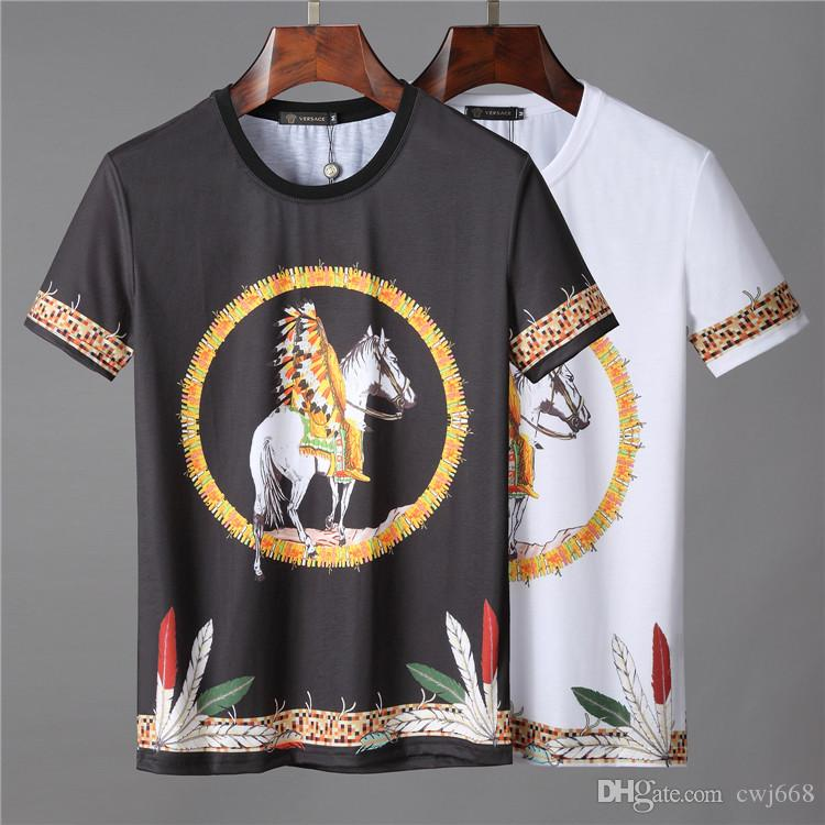 2018 Diseño Hombres camiseta de manga corta de ducha hombres de la moda del gel de la alta calidad de la camiseta del algodón camiseta 3 colores 123