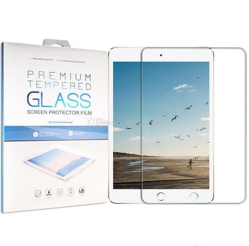 9H Premium Tempered Glass Screen Protector Film For New iPad 12.9 2 3 4 5 6 Air Air2 Mini MINI4 Pro 9.7 10.5 with Retail Package