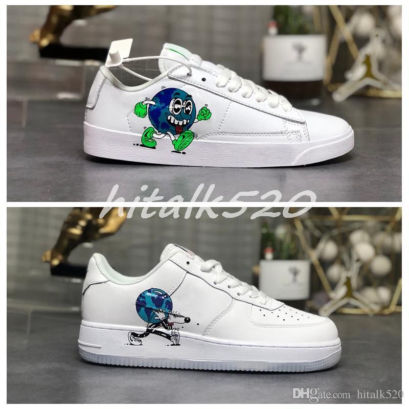 Flyleather Стив Харрингтон Earth Day 2019 Классический блейзер Cortez Dunk Мужская дизайнерская обувь One 1s Спортивные кроссовки для бега Женские кроссовки